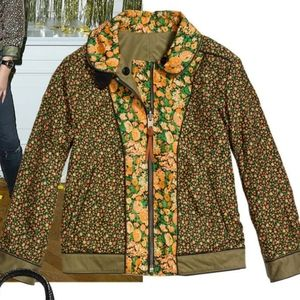 Coach Rare Military Blossom Reversible Jacket